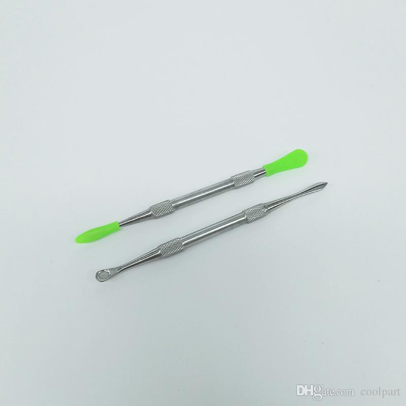 2017 meistverkauften wachs werkzeug wachs tupfen werkzeug mit silikonspitze metallwachs antihaft tupfer titanium tupfen werkzeuge