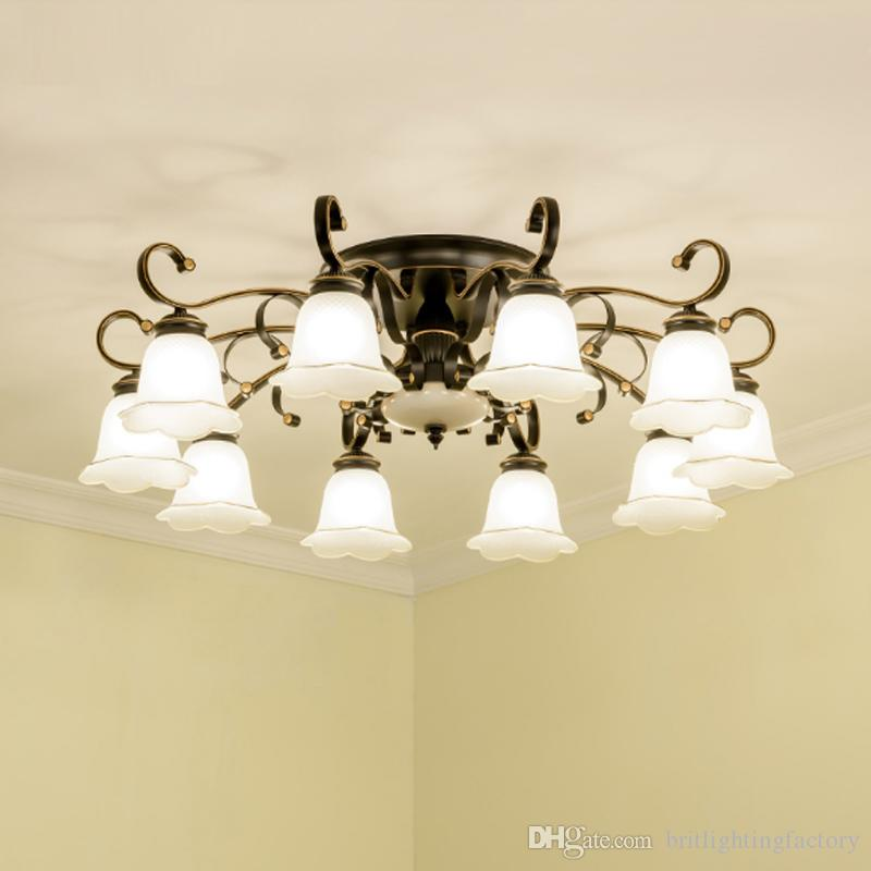 2018 American Living Room Lamp Led Ceiling