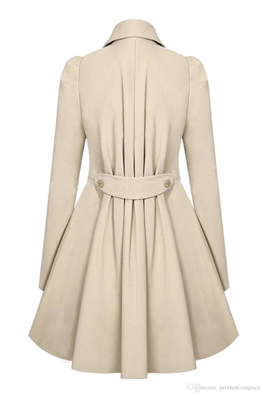 2017 Fashion Lady Slim Fit Laine Femmes Double Trench-coat Manteaux Chauds Robe Veste Femmes Manteau Moyen-Long Manteau Laine FS0640