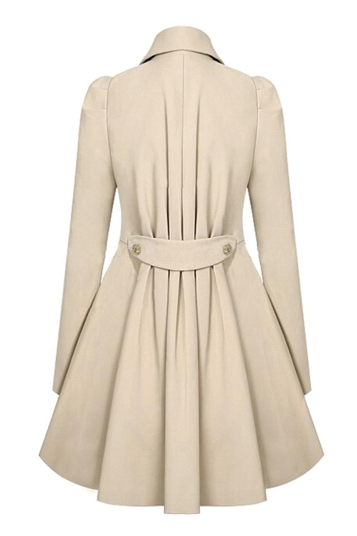 2017 Fashion Lady Slim Fit Lana Mujeres Doble Breasted Trench Abrigos Cálidos Chaqueta de Vestir Mujeres Medio Abrigo Largo Abrigo de Lana FS0640