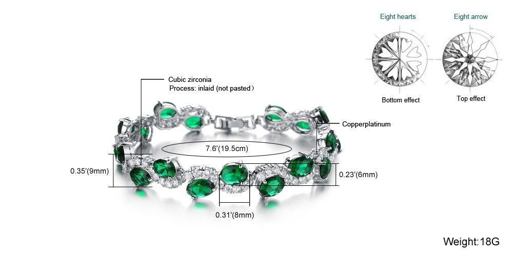Mode Classique Rouge Cristal Pierre Femmes Bracelet Marque De Mode Nouveau Cristal Charme Bracelets Pour Femmes