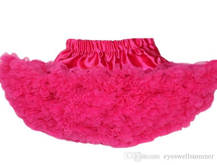 Fashion Fluffy Chiffon Pettiskirts tutu Baby Girls Skirts Princess skirt dance wear Party clothes 2-8 Y