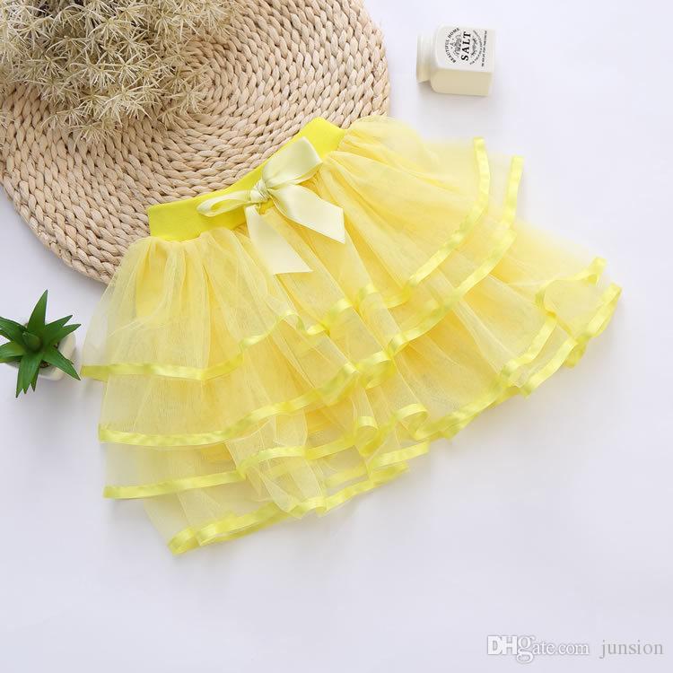 Hot Sale Girls Tutu Skorts Child Pettiskirt Children Dress For Big Kids 4Y-9Y Toddlers Ballet Skirt 3layers 2016 Summer New Style