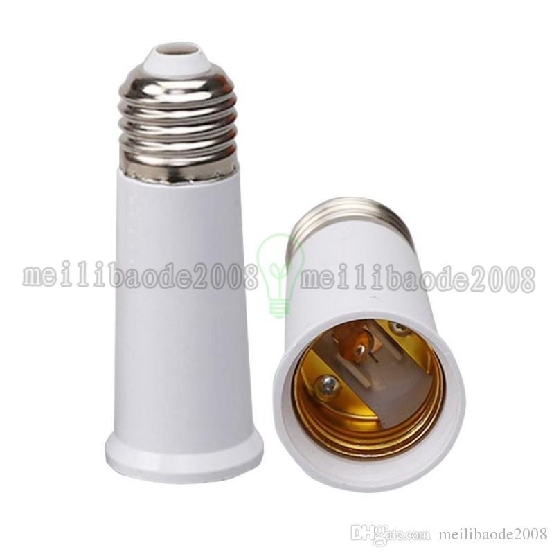 E27 para E27 Tomada de Luz da Lâmpada Titular da Lâmpada Adaptador Plug Extender estender a Extensão do suporte Da Lâmpada à prova de fogo-material 95mm frete grátis MYY