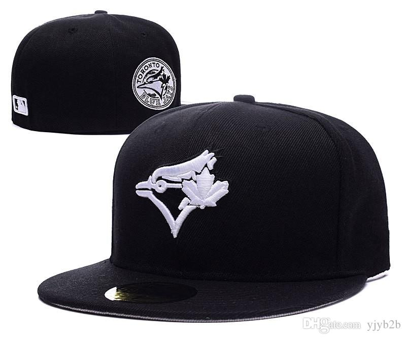 2018 New Men s Toronto Black Color Baseball Fitted Hats Sport ... 3d7b273ba1b0
