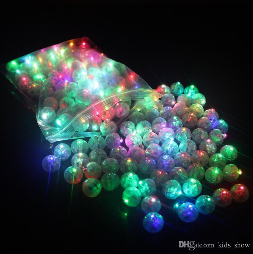 Color Round Mini Led RGB Flash Ball Lamp Lantern Balloon Lights For New Year Deco Christmas Wedding Party Decoration
