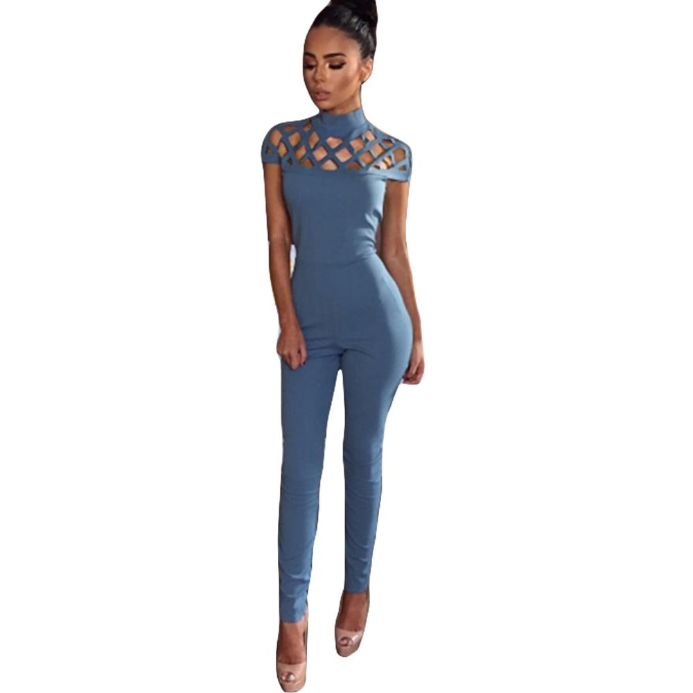 2018 Sexy Club Jumpsuits 2016 Winter Fashion Long Pants Hollow Out Womens  Turtleneck Spandex Black Bodycon Jumpsuit And Rompers Q171118 From  Yizhan01, ... 70e3a28a5f