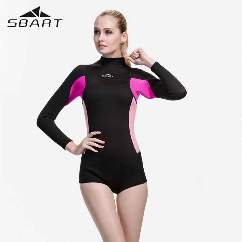 2019 SBART 2MM Neoprene Wetsuit One Piece Women Surfing Wetsuits Swimming  Snorkeling Diving Wet Suit Long Sleeve Swimming Suit From Yymq0404 216eac263