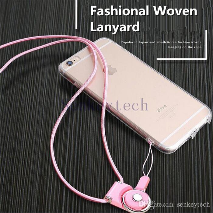 Teléfono celular desmontable Correas de cuello de nylon de punto Nylon Cuerdas de cordones Collar Colgante Encantos Cadena de insignia de seguridad para tarjetas de identificación Drives Flash MP3