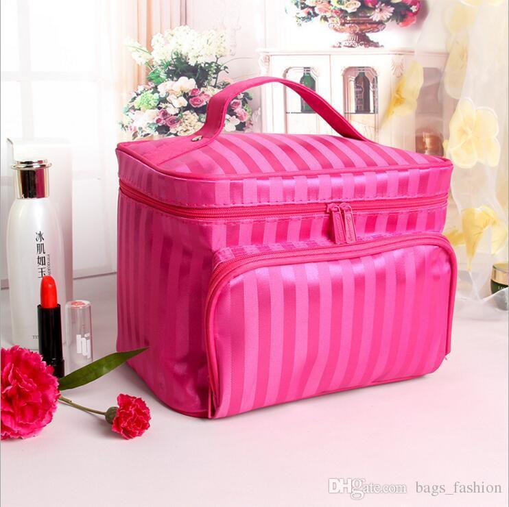 f0908c12eccd 2019 Diamond Lattice Big Cosmetic Bag Women Waterproof Professional Toiletry  Kit Wash Necessaire Travel Organizer Make Up Bags DHL From Bags fashion