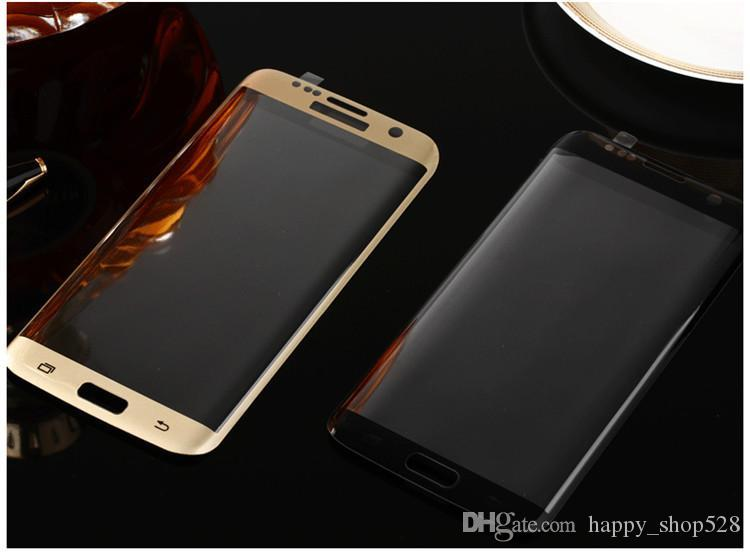 Tempered Glass Samsung Galaxy Note 7 Tempered Glass 3D Curved Full Coverage With Wooden box For S7 Edge S6 Edge Plus Colorful Full Clear