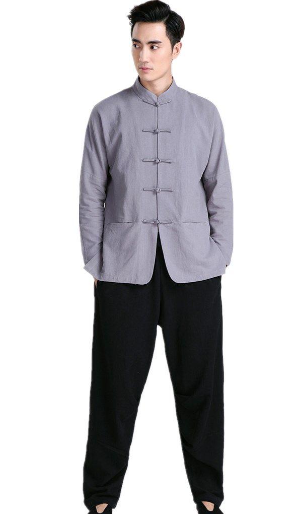 339f1967de56 Blend Linen Martial Arts Tai Chi Clothes Chinese Kung Fu Uniforms ...