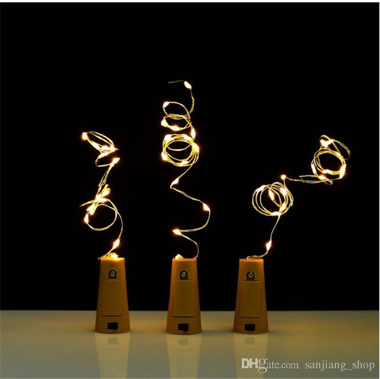 Lampe Kork Geformt Flaschenverschluss Licht Cork2M 20LED Stecker Weinflasche LED Nachtlichter Für Xmas Party Hochzeit Halloween Decor Beste 2017