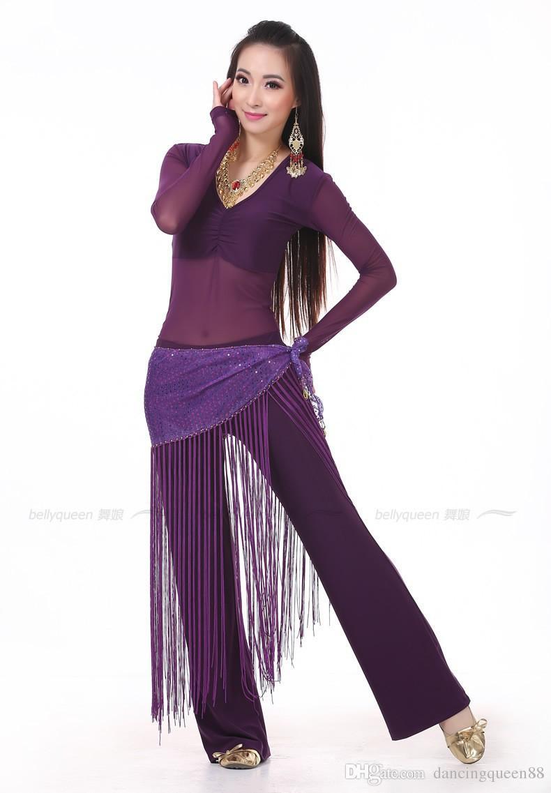 2018 Best Belly Dance Costume Top+Waist Towel+Pants Belly Dancing Clothes Bellydance Clothing For Dance Indian Dresses