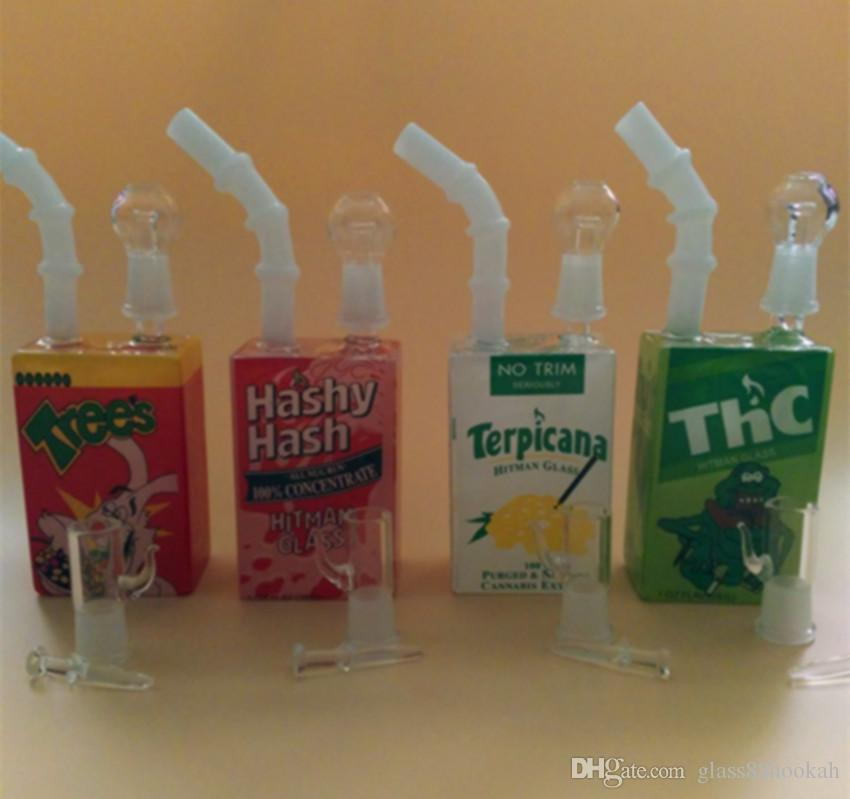 Tuyaux en verre Fabricant venteswholesale hitman Mini Liquid installations de verre Verre Céréales boîte huile Rig joint mâle 14,4 mm
