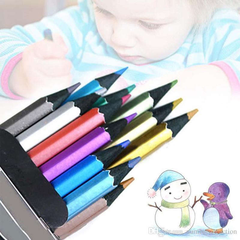 마르코 라피네 미술 / 설정 아이 성인 색칠 그리기 스케치 설정 문구를 들어 금속 컬러 연필 무독성