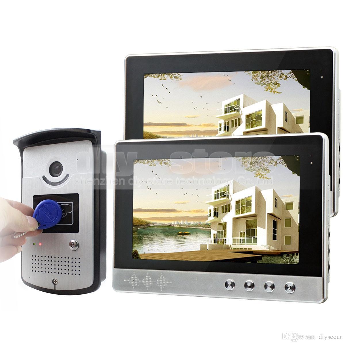 10 Inch Wired Video Door Phone Doorbell Home Security Intercom