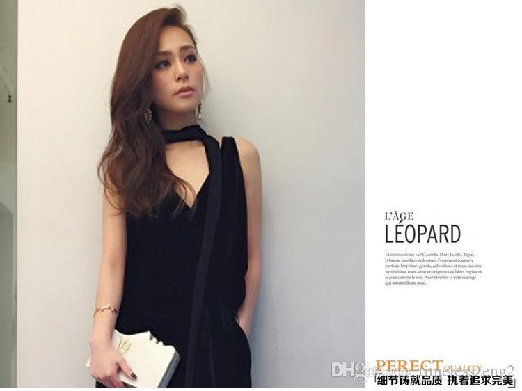 Fashion velvet cloth wide collar necklace Same type Fashion star black collar Flannel and alloy chokers Cloth and chain