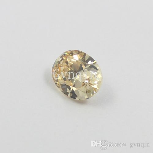 8x10mm AAAAA cubic zirconia light champagne oval loose gem stones