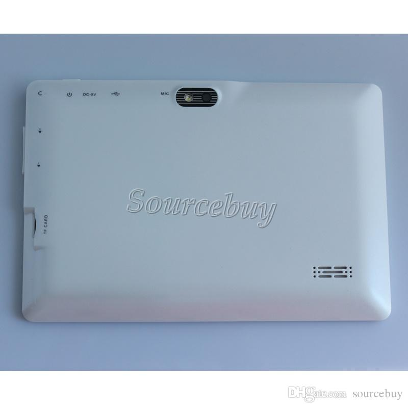 """DHL 7"""" Q88 Quad Core Dual Cameras A33 Android 4.4 Tablet PC 512MB 4GB Flashlight Wifi Capacitive Screen Colorful"""