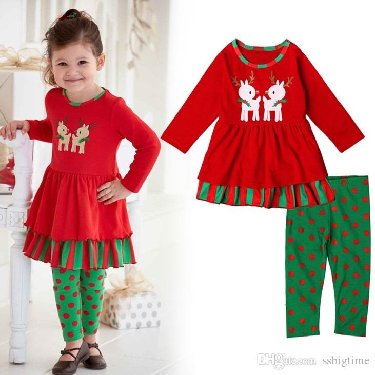 See larger image - Newest Girls Childrens Christmas Clothing Sets Spring Autumn Dresses