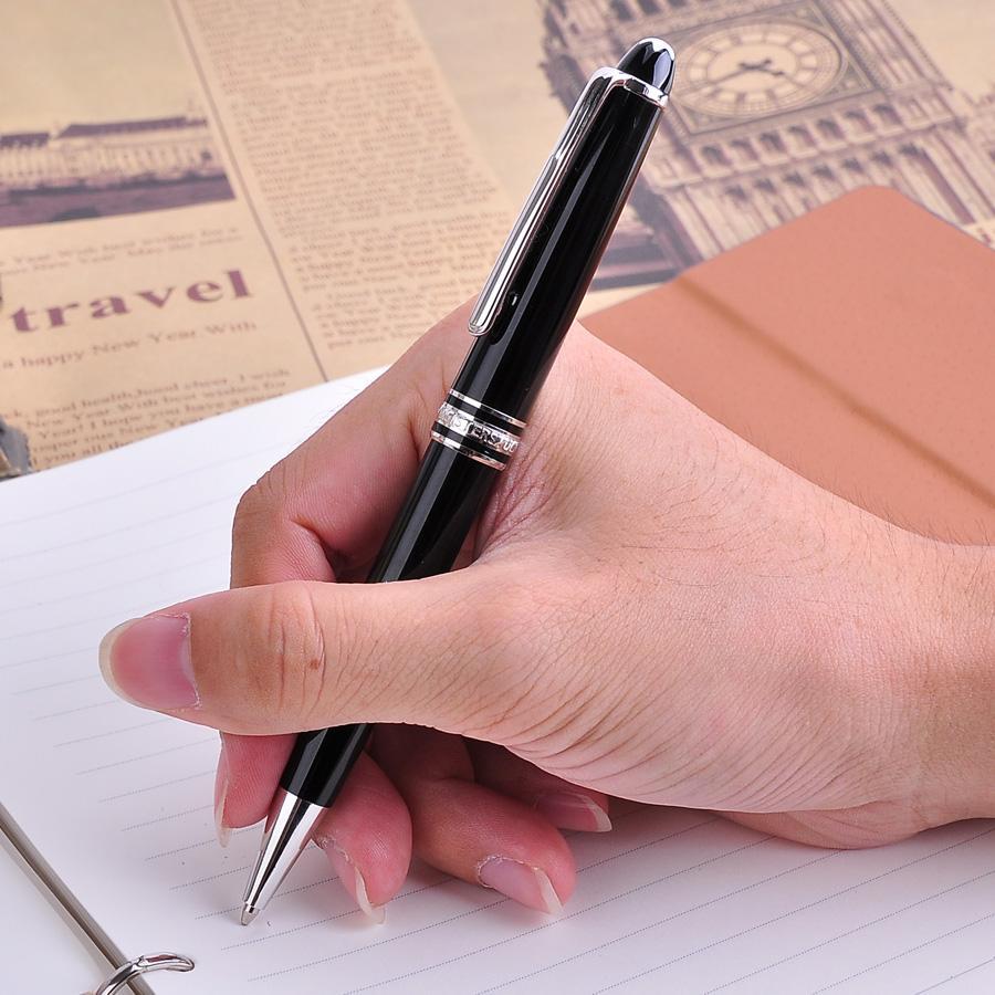 1 stück mont 163 luxus glatte schwarze kugelschreiber mit schwarzer Tinte Mb Pens Business Gift Büro Schulbedarf Schreibwaren Weihnachtsgeschenk