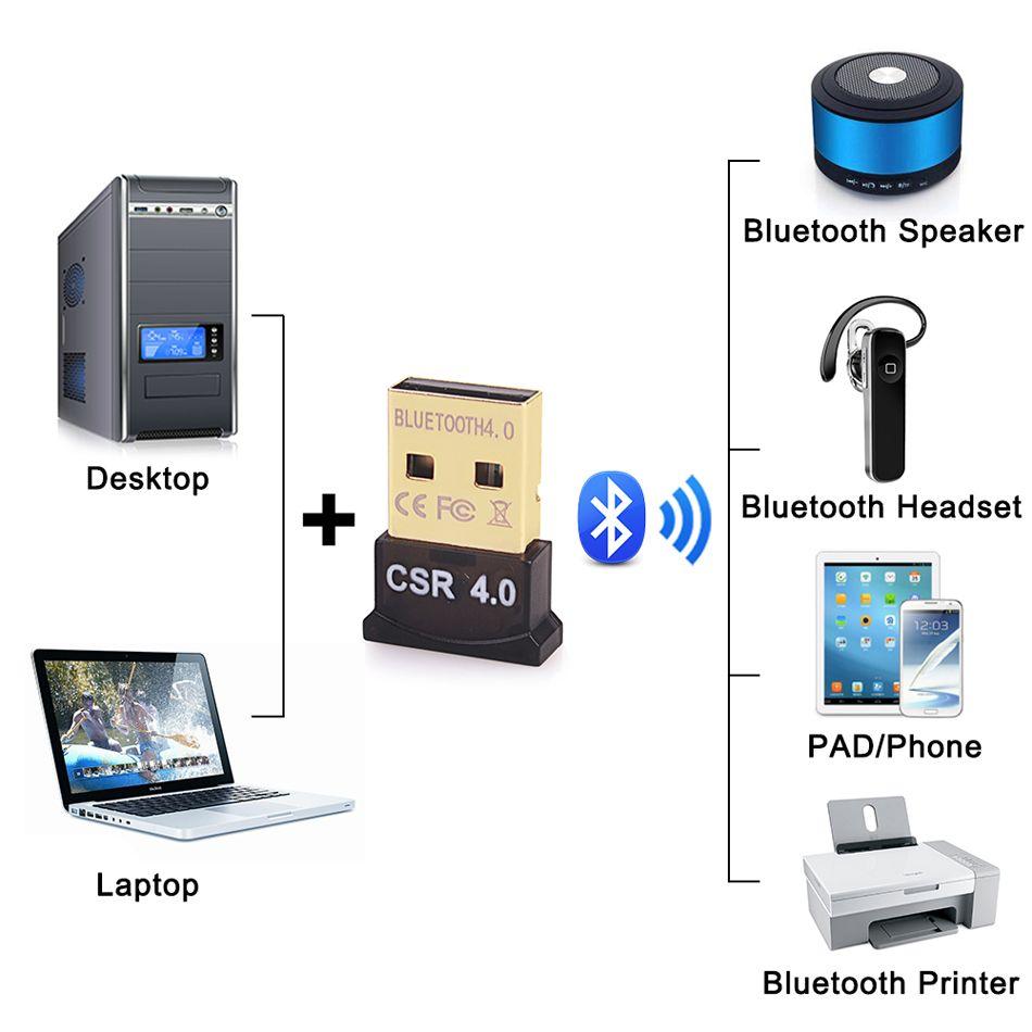 컴퓨터 PC를위한 미니 USB 블루투스 어댑터 V4.0 + EDR의 USB 동글 CSR8510 무선 USB 송신기 음악 수신기 어댑터