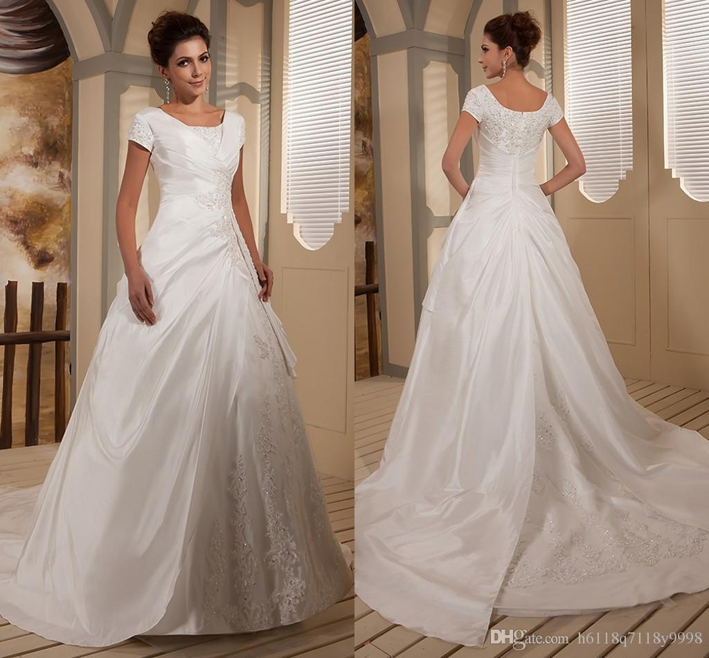 Discount 2016 Real Modest Ball Gown Wedding Dresses Bridal