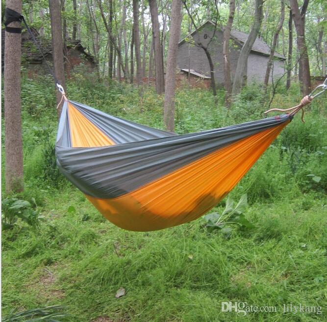 Горячая распродажа портативный парашют путешествия кемпинг гамак с ремнями на открытом воздухе дома сад дети висит гамак качели кровать стул
