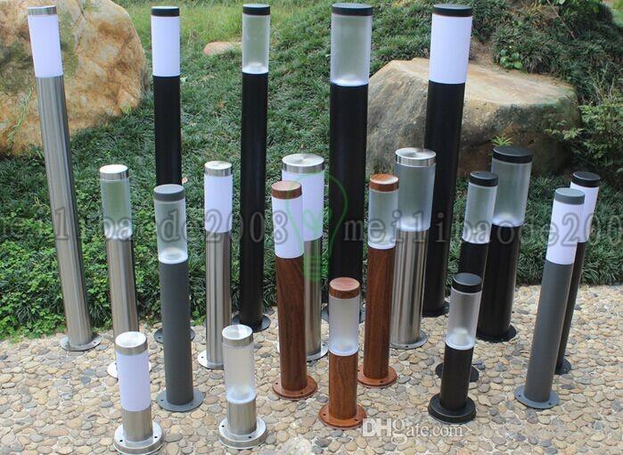 110V 220V 60cm 100cm 1M 풍경 포스트 빛 방수 IP65 스테인리스 야외 정원 잔디 기둥 빛 기둥 램프 기둥 빛
