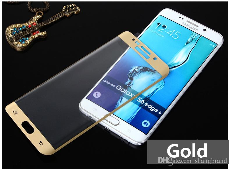 S6 Edge Plus tempered glass film For samsung galaxy S6 Edge Plus 3D curved full cover tempered glass phone screen protector film