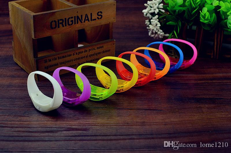 Event And Party Sound Control Led Flashing Bracelet Bangle Wristband For Night Club Activity Party Bar Music Concert