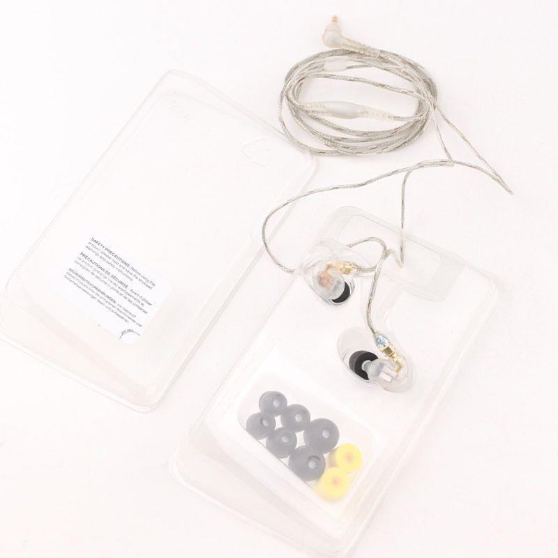 Cuffie auricolari SE425 SE 425 auricolari in-ear 3.5mm con scatola al minuto hifi Perfetto A +++ auricolare DHL libero