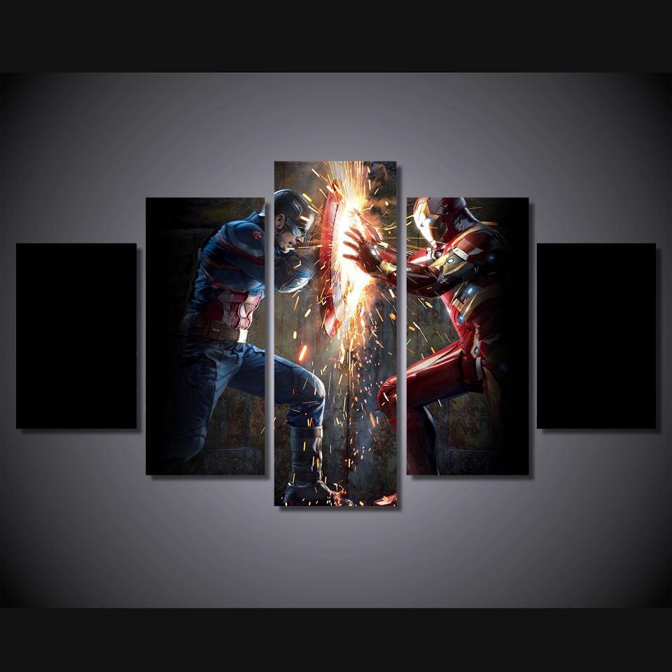 Compre Hd Impreso Capitán América Guerra Civil Pintura Impresión De ...