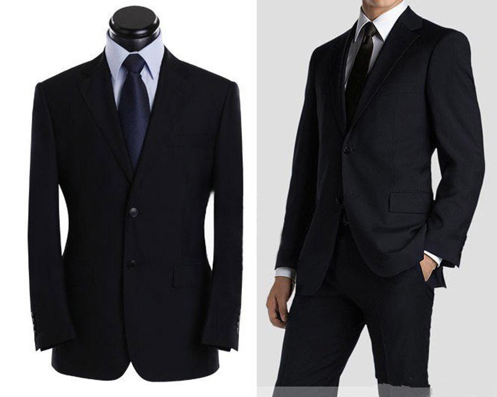 Özel İki Düğme Damat smokin Siyah Sağdıç Notch Yaka Groomsmen Erkekler Düğün Suits Biçimsel Durum Erkek Takım Elbise Promo damat Yapılan