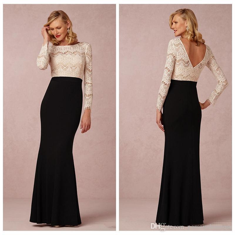Black skirt and white top long dress