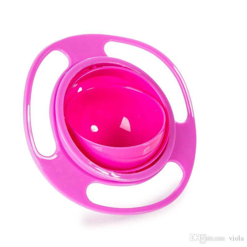 Platos de alimentación para bebés Juguete lindo Bebé Gyro Bowl Universal 360 Girar platos a prueba de derrames Vajilla infantil para bebés