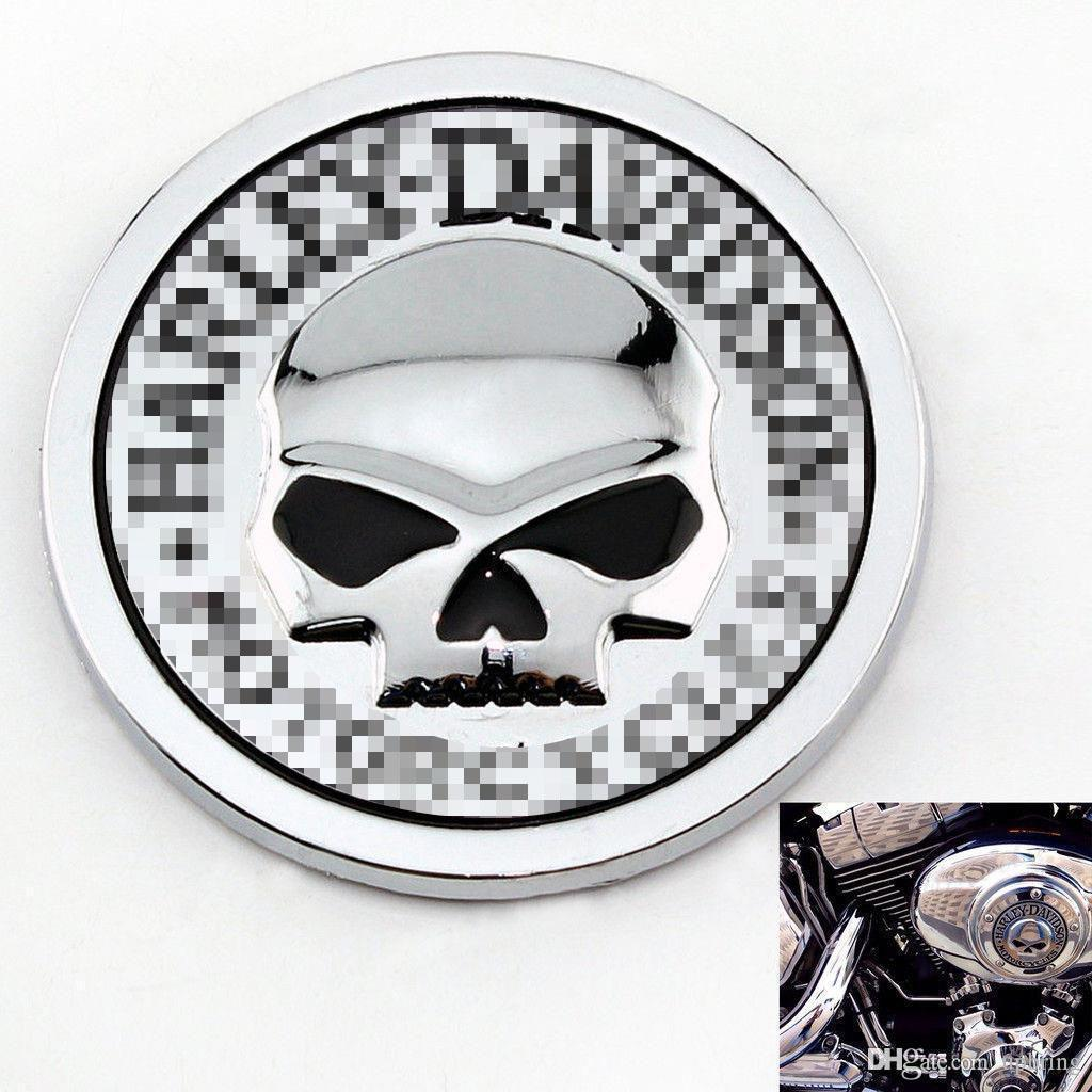 2016 Hot Sale HARLEY DAVIDSON MOTORCYCLES Skull Bone Car Motorcycle Auto Chrome Silver 3D Metal Emblem Badge Decal Sticker Online