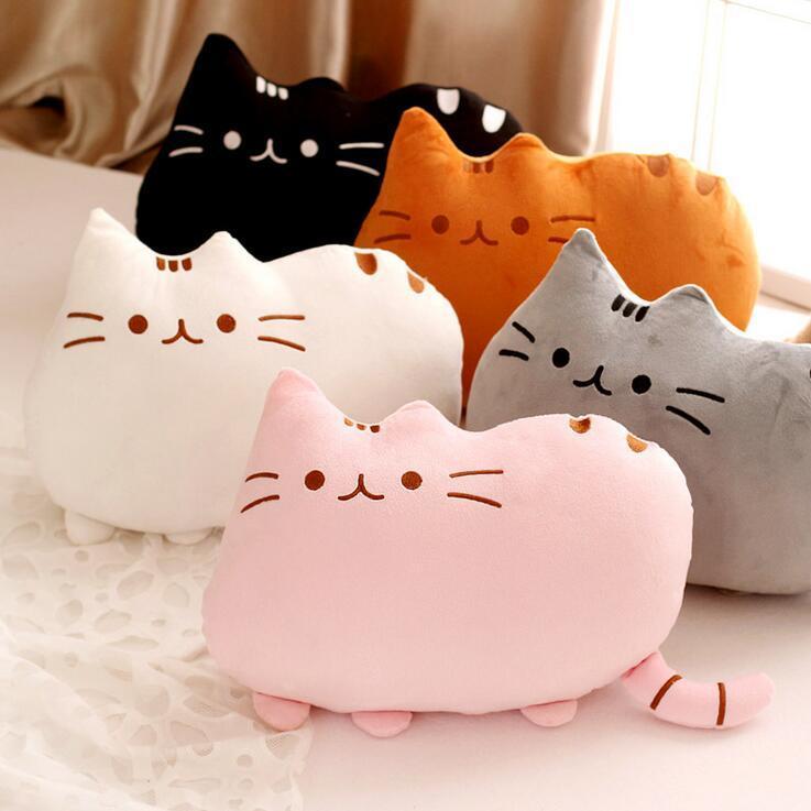 How To Make Stuffed Animal Pillows : 2018 Pusheen Plush Toys Cute Cat Kitten Stuffed Animal Toy Soft Cushion Cartoon Cushion 40 ...