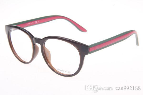 America Style Eyeglasses Frame for Women Red Green Temple Eyewear ...