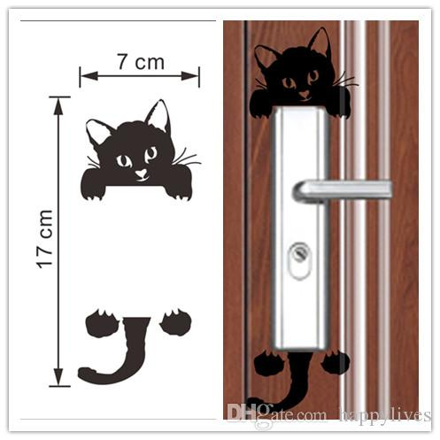 Wall Decor Cat Wall Stickers Light Switch Decor Art Mural Nursery Room Decorations Wallpapers For Childrens Rooms Princess Wall Decals