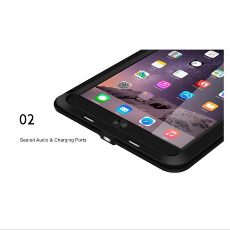 Aşk Mei Zırh Kapak Su Geçirmez Kılıf için iPad 2/3/4 Retina Fundas Kabuk Konut Su / Kir / Şok / Yağmur Geçirmez iPad3 ipad4 için