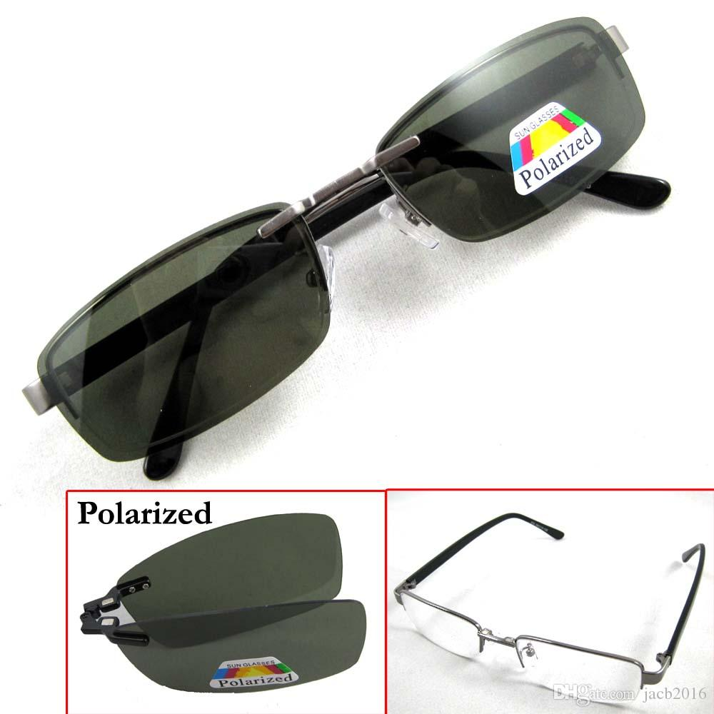 Magnetic Sunglasses Clip On Polarized Spectacles Shade Sun Glasse ...