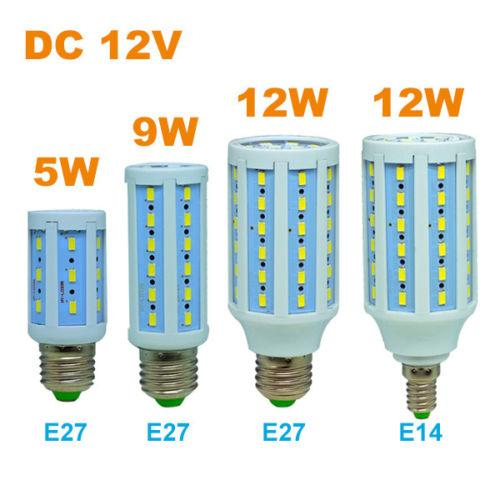 E27 Solar Battery Powered 22 Led Camping Light Outdoor: DC 12V Led Corn Bulb E27/E26 E14 Screw Base Socket Solar