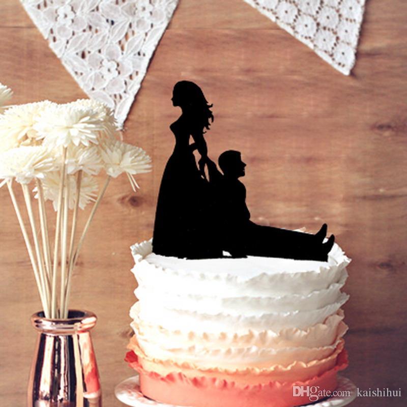 Wedding Cake Topper Mariée Et Le Marié Pour La Décoration De Gâteau D Anniversaire De Mariage En Rubis