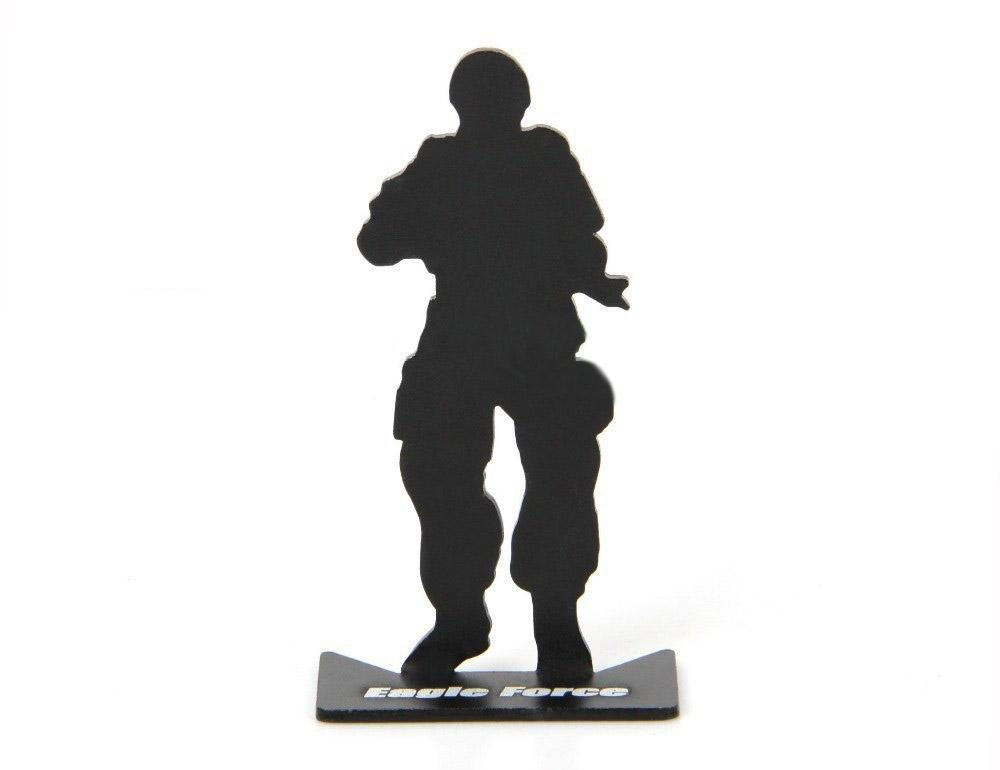 Metal Target Modle Size 80x33mm Black