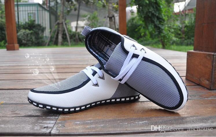 Art und Weise einfache ultraleichte Flattie Breathable beiläufige Shose Spitze-Mann-Schuh-britische Art-rutschfeste Sohlen-Sport-Schuhe Freies Verschiffen