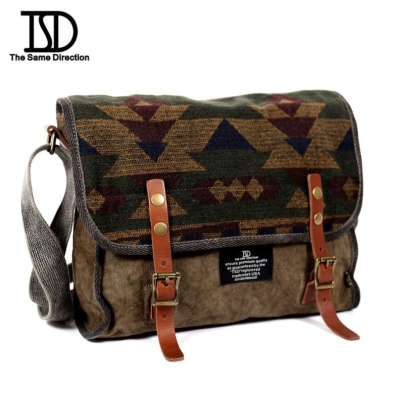 7a449844c6cd 2019 Hot Sale2016 National Style Men Canvas Shoulder Bag UnisexSchool Bag  Indian Tattoo Women Canvas Messenger Bag Colored Bags601723 Brown Color  From ...
