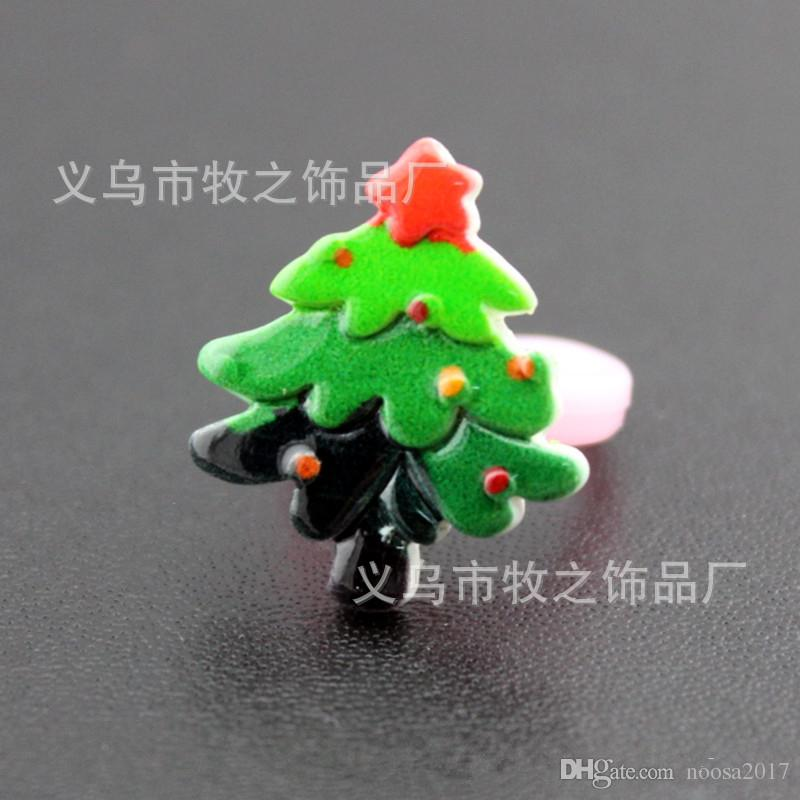 2017 hot sale 11 styles Children's ring PVC christmas ring decorations prizes small gifts gloves santa christmas tree snowflakes ring