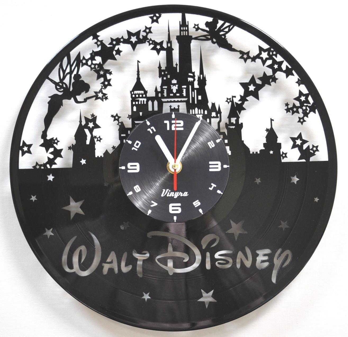 Vinyl wall clock art kids gift laser cut record clock kids room see larger image amipublicfo Gallery